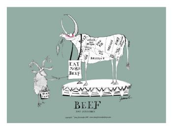 Beef Cuts - signed print
